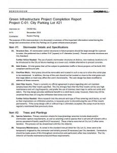 City Lot 21 Project Completion Report (PDF)