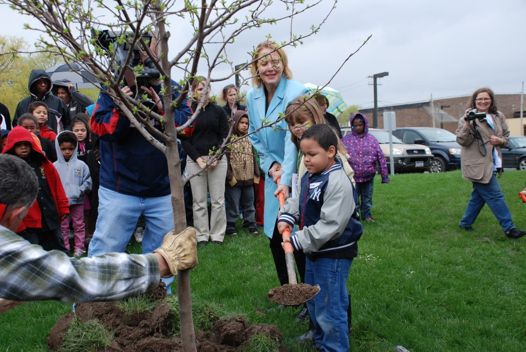 CE Joanie Mahoney Tree Planting at Bellevue Academy