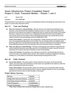 Townsend Median Project Completion Report (PDF)