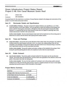 Erie Canal Museum Green Roof Project Status Report (PDF)