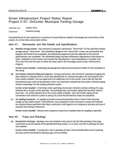 OnCenter Municipal Garage Project Status Report (PDF)