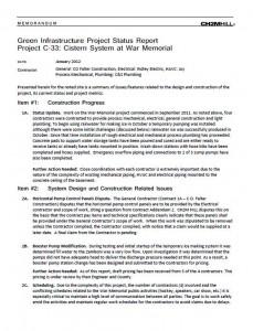 War Memorial Cistern Status Report (PDF)