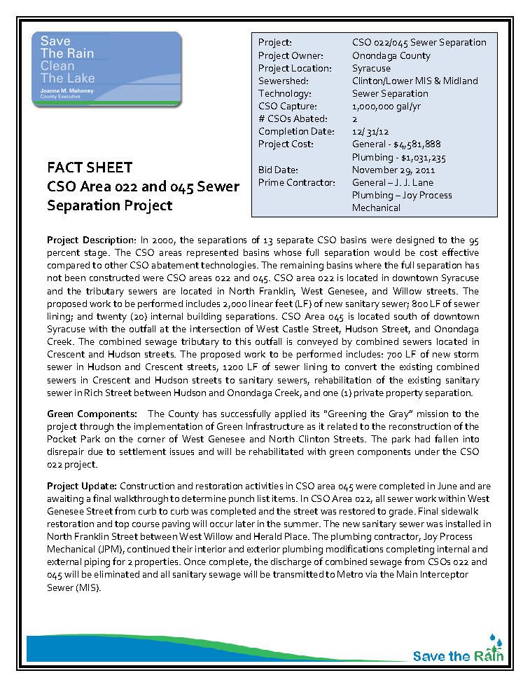CSO 022-045 Fact Sheet (PDF)