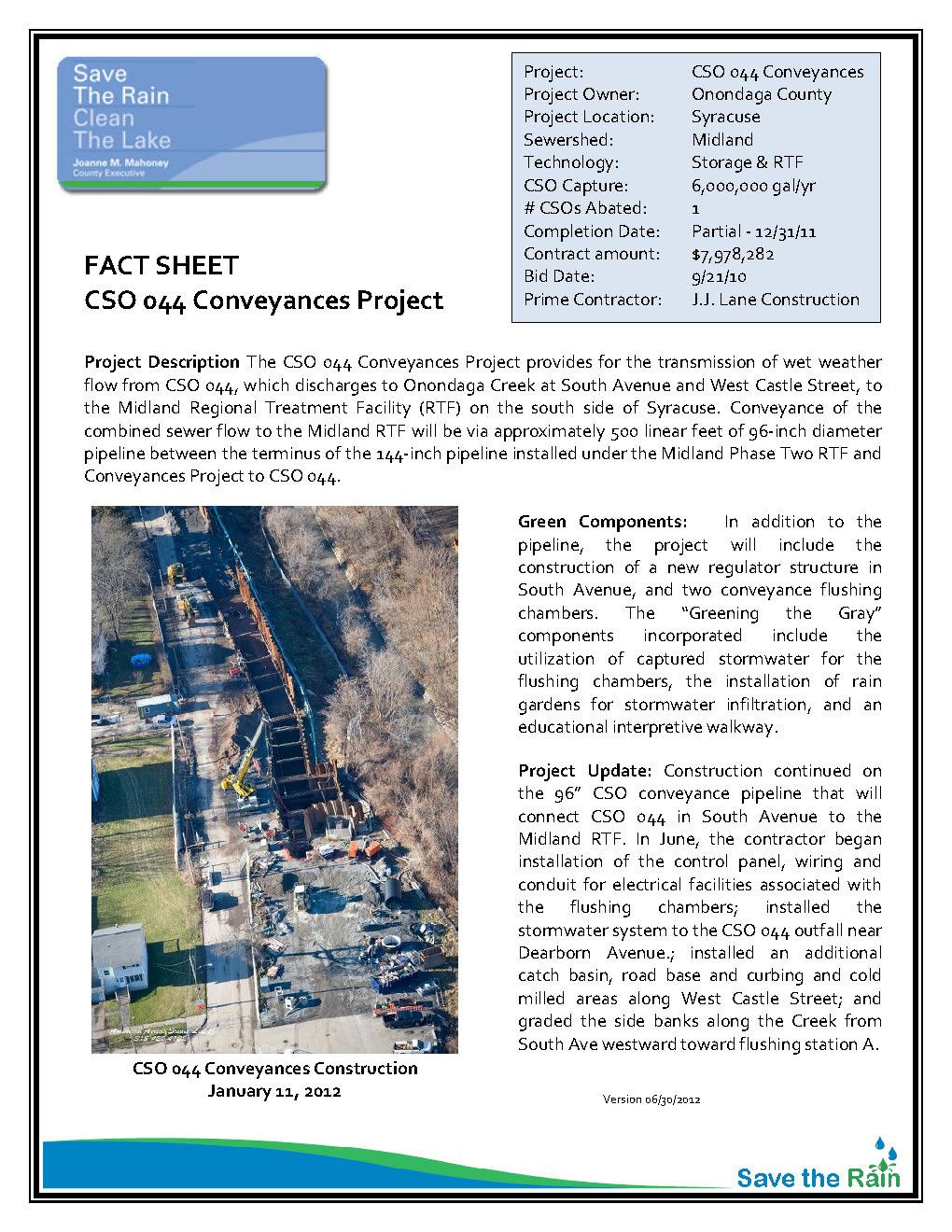 CSO 044 Conveyances Fact Sheet