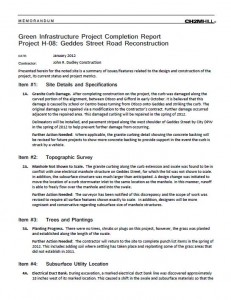 Geddes Street Project Completion Report (PDF)