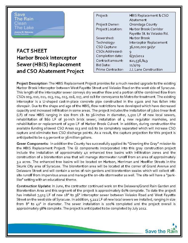 HBIS Fact Sheet