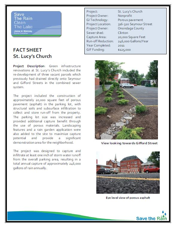 St. Lucy's Fact Sheet