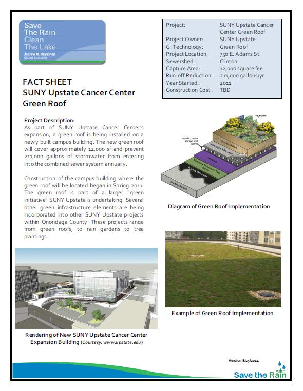 SUNY Upstate Green Roof Project Overview (PDF)