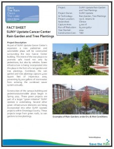 SUNY Upstate Rain Garden & Tree Planting Project Overview (PDF)