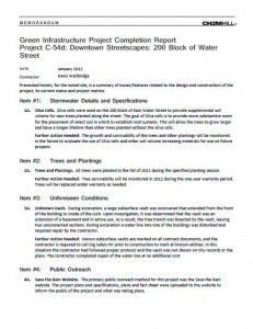 Downtown Streetscapes 200 Water Project Completion Report (PDF)