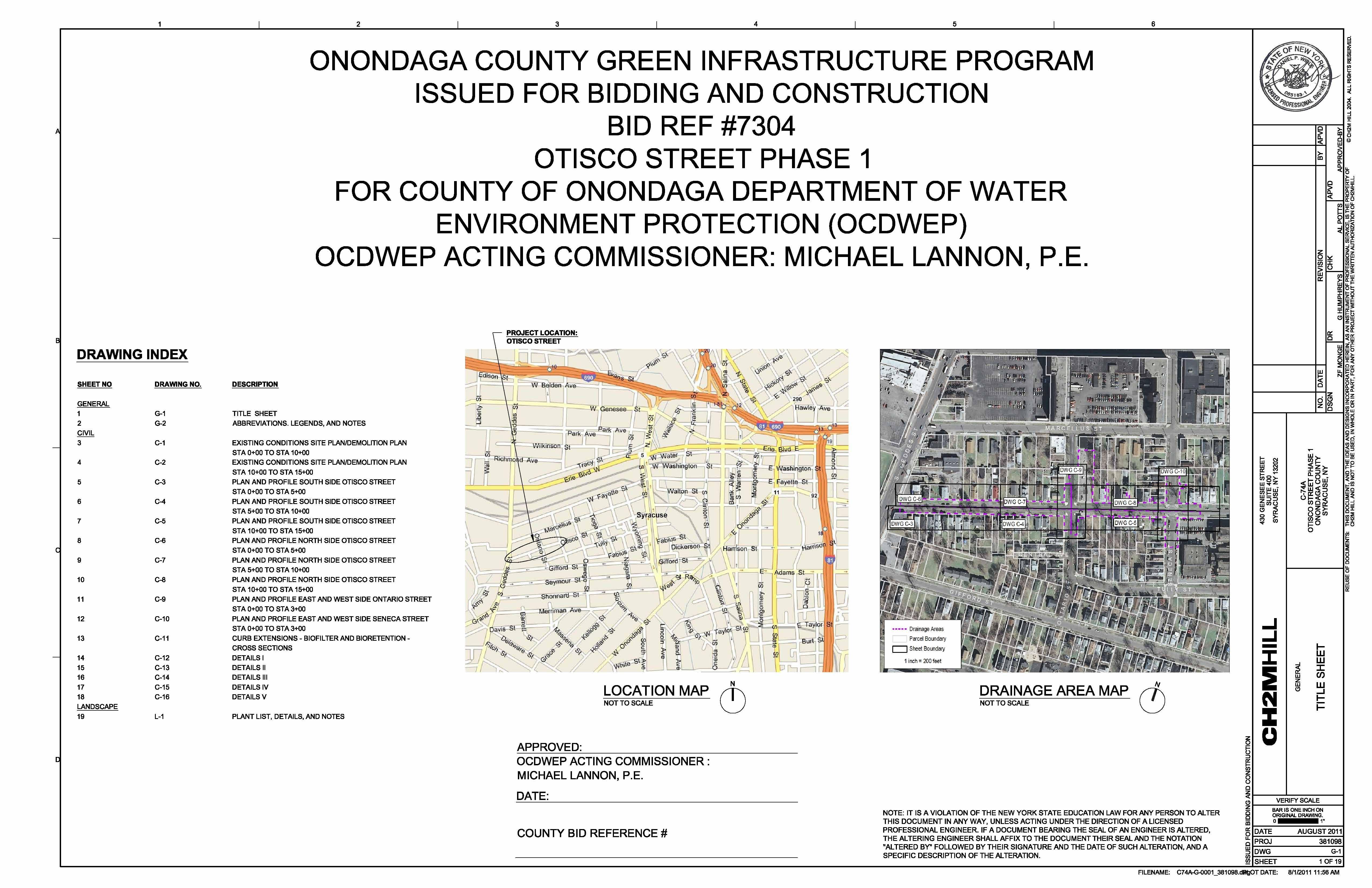 Otisco Street Project Plans