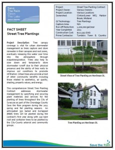 2012 Street Tree Plantings Fact Sheet (PDF)