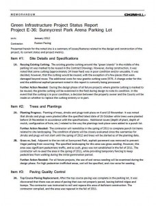 Sunnycrest Arena Project Status Report (PDF)