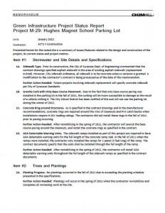 SCSD Hughes Magnet School Project Status Report (PDF)