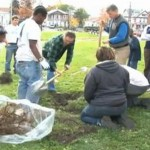 Tree planting in Union & Demong Parks (photo)