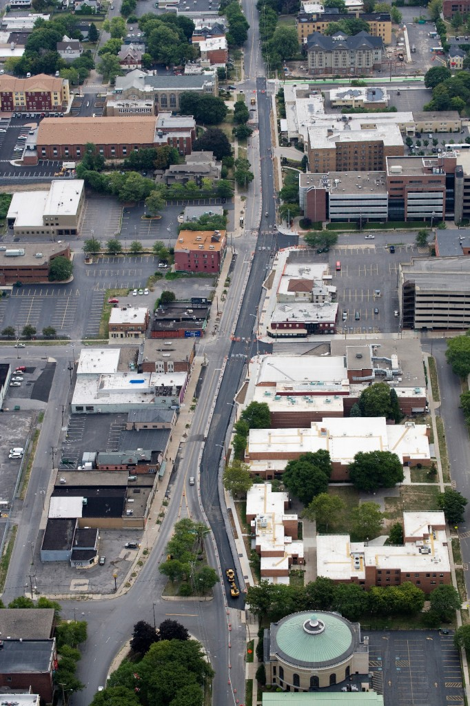 Aerial Photo - Connective Corridor E Genesee August 2012