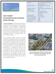 Greening the Gray at Harbor Brook Storage Project Overview