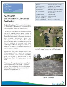 Sunnycrest Golf Course Parking Lot Fact Sheet (PDF)