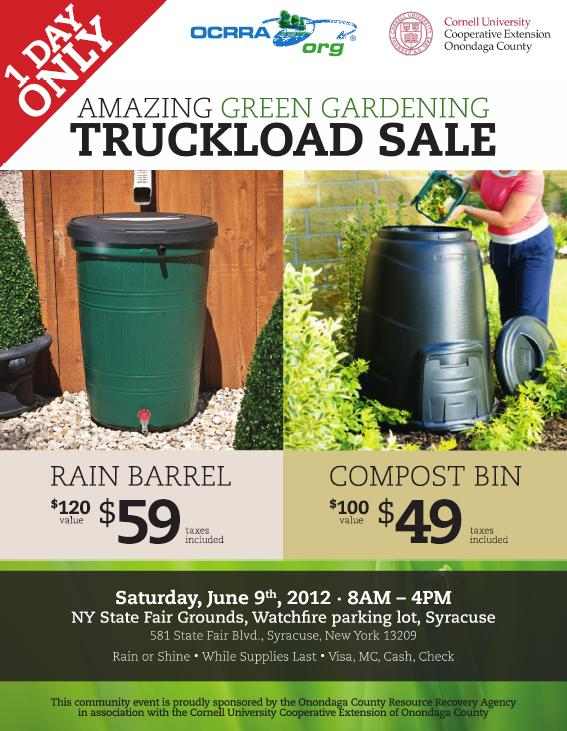 save the date u2013 june 9 u2013 ocrracce green gardening truckload sale selling rain barrels u0026 compost bins