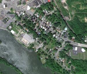 Baldwinsville, Lock Street - Aerial Image