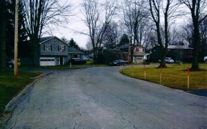 Town of Clay, Bayberry Subdivision, image before green infrastructure installation
