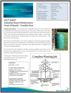 DeWitt Franklin Park SGIP Fact Sheet (PDF)