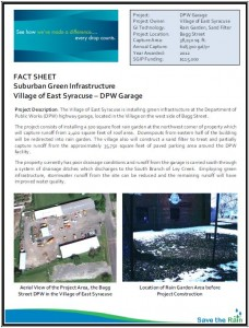 East Syracuse SGIP Fact Sheet