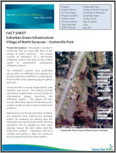 North Syracuse Centerville Park - SGIP Fact Sheet