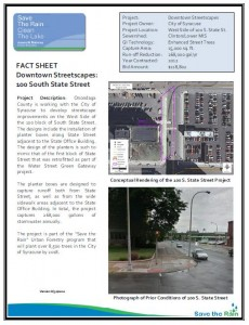 DT Streetscape 100 S State Fact Sheet (PDF)