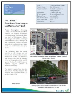Downtown Streetscape 200 Montgomery (East) Fact Sheet (PDF)