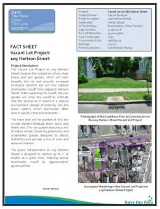Vacant Lot - 109 Hartson St Fact Sheet (PDF)