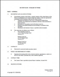 Vacant Lot Technical Specifications (PDF)