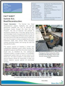 Sumner Ave - Road Reconstruction Fact Sheet (PDF)
