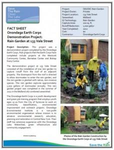 OEC Rain Garden Vale Street Fact Sheet