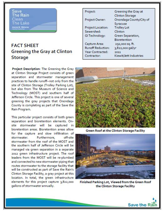Clinton Storage: Greening the Gray Fact Sheet