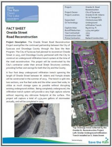 Oneida Street Road Recon Fact Sheet