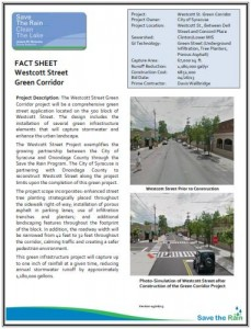 Westcott Street Fact Sheet (PDF)