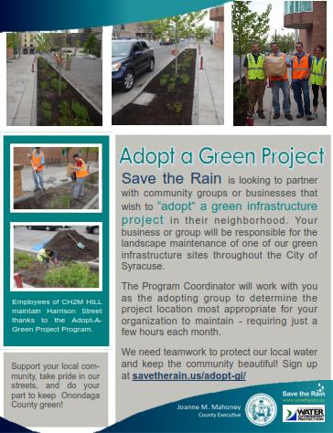 Adopt a Green Project - 2014 flyer