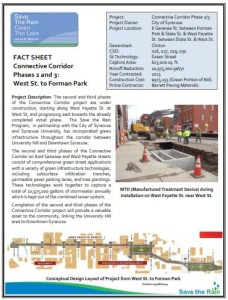 Connective Corridor Phases 2-3 fact sheet