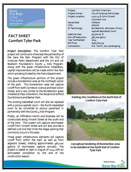 Comfort Tyler Park Fact Sheet (PDF)