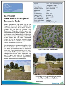 Magnarelli Center Green Roof Fact Sheet