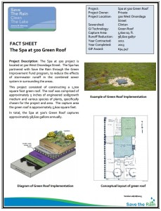 Spa at 500 Green Roof Fact Sheet