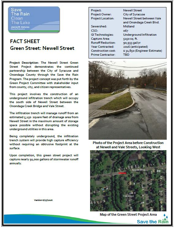 Newell Street Fact Sheet