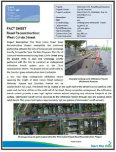 West Colvin Street Road Reconstruction Fact Sheet