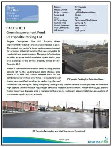 RF Esposito Parking Lot Fact Sheet