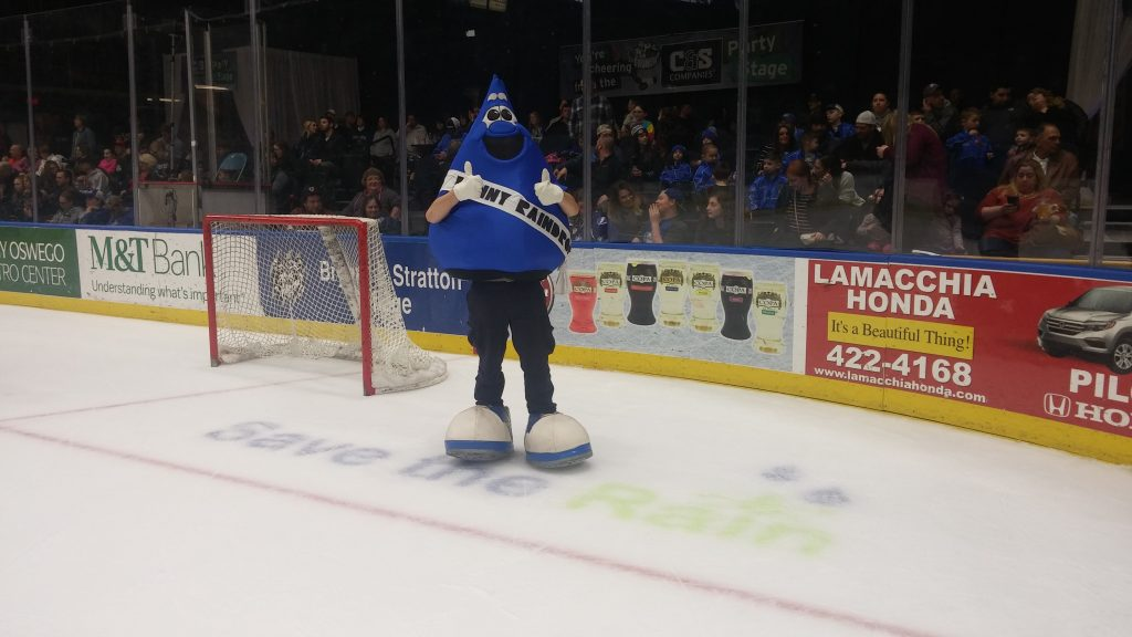Ronny Raindrop at Syracuse Crunch