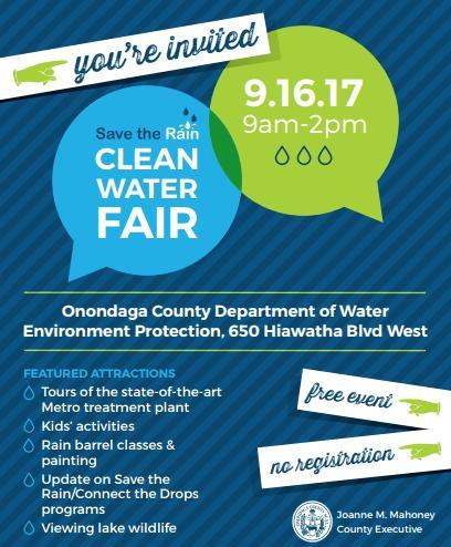 2017 Save the Rain Clean Water Fair Invitation