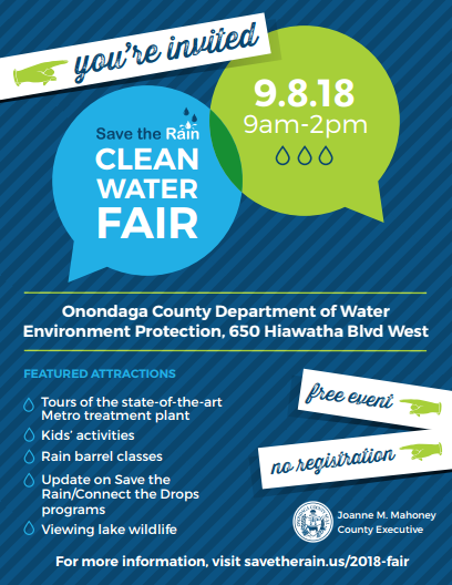 2018 Clean Water Fair Invitation